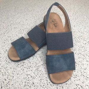LIFE STRIDE Faux Leather Suede Sandals